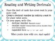 Reading, Writing, Comparing and Rounding Decimals 5.NBT.3 and 5.NBT.4