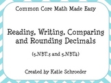 Reading, Writing, Comparing and Rounding Decimals 5.NBT.3