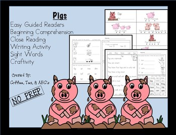 Reading, Writing, Comprehension Mini-Unit...Pigs
