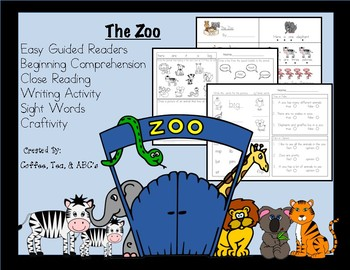 Reading, Writing, Comprehension Mini-Unit, The Zoo