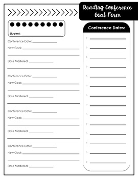 Reading & Writing Conference Data Forms