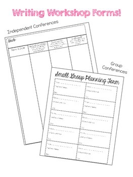 Reading & Writing Conference Forms