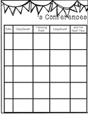 Reading & Writing Conference Recording Sheets