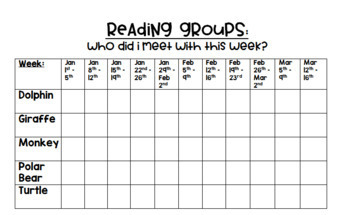 Reading & Writing Conference / Small Group Sheets *Editable*