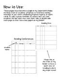 Reading & Writing Conference note templates