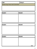 Reading & Writing Conferencing Forms