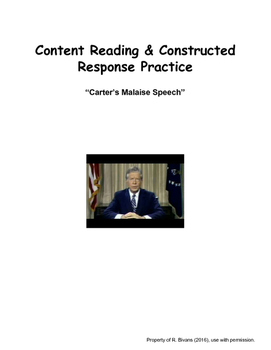 Reading & Writing For Content: Carter's Malaise Speech