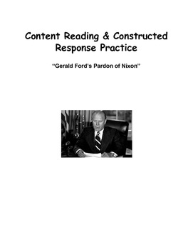 Reading & Writing For Content: Ford Pardon's Nixon