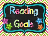 Reading & Writing Goals Chart with Editable Pages Bundle