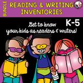 Reading & Writing Inventories! K-5! Bundle!
