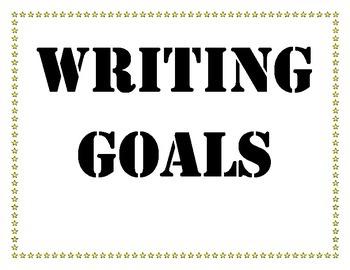 Reading, Writing, Math Goals