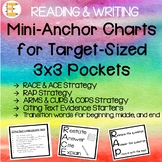 Reading & Writing Mini Anchor Charts for Target 3x3 Square