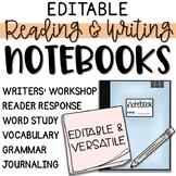 Reading & Writing Workshop Notebook / Binder - Editable