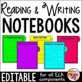 Reading & Writing Notebook / Binder - Editable!