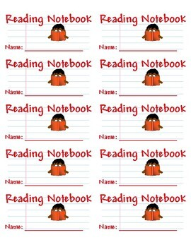 Student Folder & Notebook Labels for Reading & Writing - Printable on Avery 5163