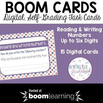 Reading & Writing Numbers BOOM Cards
