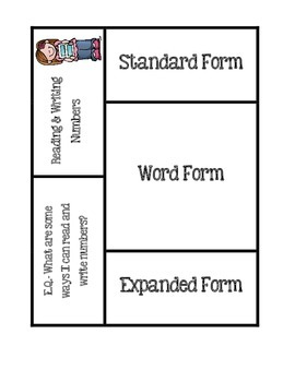 Reading & Writing Numbers Foldable