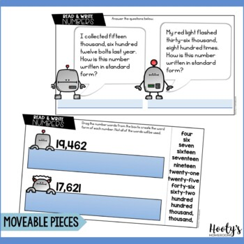 Reading & Writing Numbers Paperless Practice for Google Apps