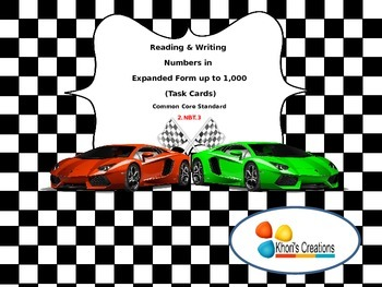 Reading & Writing Numbers in Expanded Form up to 1,000 (Task Cards)