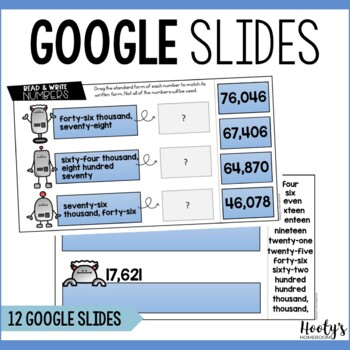 Reading & Writing Numbers to the Ten Thousands Place Digital Bundle