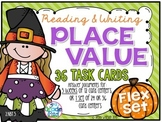 Reading & Writing Place Value Task Cards Flex Set 2.NBT.3