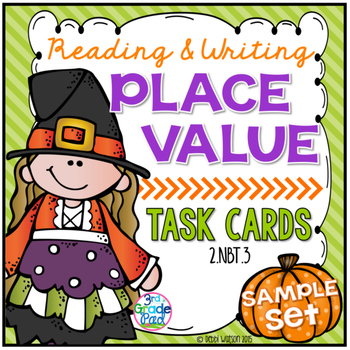Reading & Writing Place Value Task Cards SAMPLE
