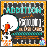 Addition with Regrouping Task Cards Flex Set