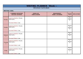 Reading Planner & Writing Planner