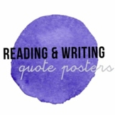 Reading & Writing Quote Posters