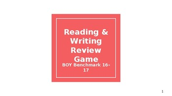 Reading & Writing Review Game