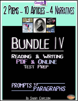 SBAC  Reading & Writing Test Prep & Guide IIl ~ 13 Articles ~