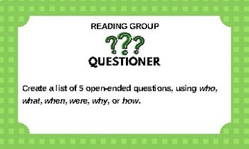 Reading & Writing Group Task Cards