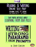 "SBAC Online READING & WRITING Test Prep ~ 2 Articles ~ ""Meet Sue"" & ""Learning"""