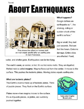 SBAC Google FORMS ONLINE ELA Test Prep~2 Articles PAIRED About Earthquakes