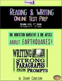 SBAC Test Prep ~ 2 ONLINE Texts about EARTHQUAKES ~ Google Forms