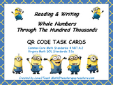 Reading & Writing Whole Numbers QR Code Task Cards