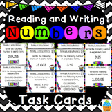 Reading & Writing Numbers Task Cards & Game Math Review