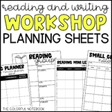 Reading & Writing Workshop Planning Sheets