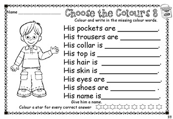 ESL / EAL / ELL Reading, Writing and Colouring Workbook