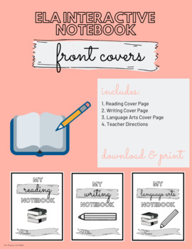 image about Printable Notebooks identify Examining, Crafting, and ELA Interactive Laptop computer Address PRINTABLE