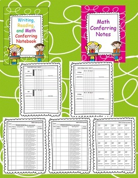 Reading, Writing, and Math Conferring Notebook (conference notes binder)