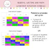 Google Slides: Reading, Writing, and Math Workshop Rotatio