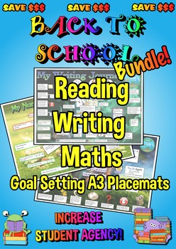 Reading, Writing and Maths Goal Setting Placemats - A3 - Back to School Bundle!