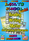 Reading, Writing and Maths Goal Setting Placemats - A3 - SAVE $$$ Bundle!