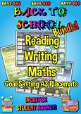 Reading, Writing and Maths Goal Setting Placemats - A3 Free Minecraft Maths Mats