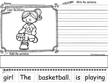 Reading, Writing, and Sentence Building GYM CLASS