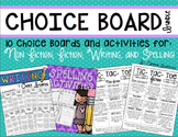 Reader's Response: Reading, Writing, and Spelling Choice Boards Bundle