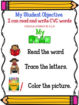 Reading, Writing, and Tracing CVC Words