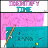 Reading a Clock: Identify Time Board Game