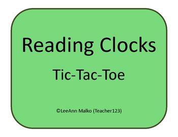Reading a Clock Tic-Tac-Toe